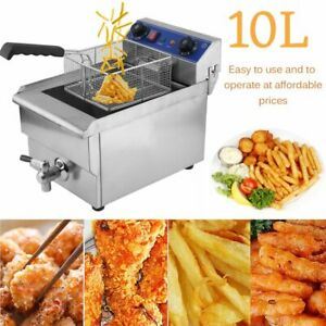 10l 1 5kw Stainless Steel Household Commercial Restaurant Electric Deep Fryer Mx