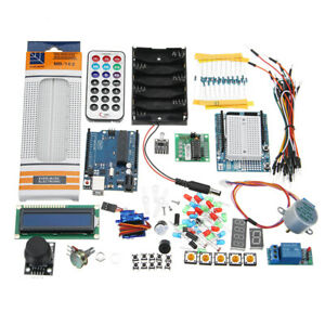 Uno R3 Starter Basic Kit Lcd1602 Breadboard Prototype Shield For Arduino Beginne