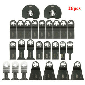 26pcs Oscillating Multitool Saw Blade Accessories Kit For Fein Multimaster Bosch