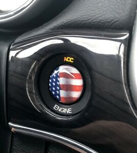 Domed 3d Starter Button Ignition Switch Decal For Jeep Grand Cherokee Usa Flag