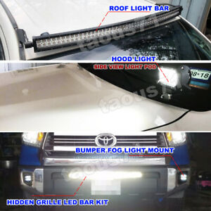 For 07 Toyota Tundra Led Light Bar Fog Lamp Mount Kit Roof Hood Bumper Grille