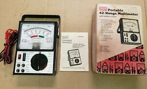 Vintage Sears 5205 Portable 42 range Multimeter With Battery Tester ships Free