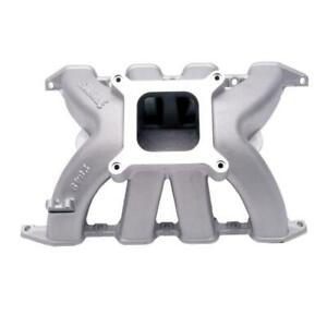 Edelbrock Intake Manifold 2849 Victor Single Plane Satin Aluminum For Chevy Sbc