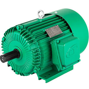 Electric Motor 5 Hp 3 Phase 1750 Rpm 1 125 Shaft 184t Frame General Applicable