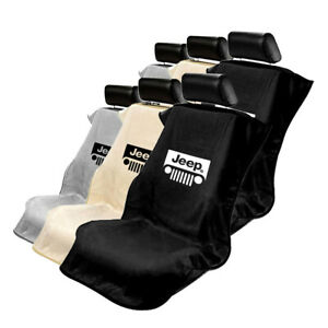 Seat Armour Set Of 2 Terry Cloth Seat Cover Towels Fit For Jeep Jeep Logo