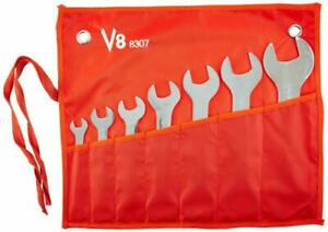 New V8 Tools 8307 7 Piece Super Thin Wrench Set
