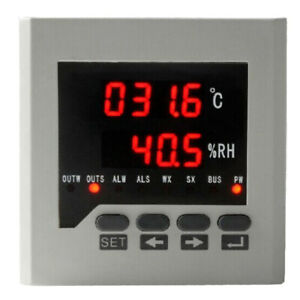 Temperature Controller Humidity Control Intelligent Temp Control 80mm White