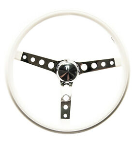 Mooneyes White Vinyl Steering Wheel 15 With Holes In Spokes Rat Fink Rod Hot