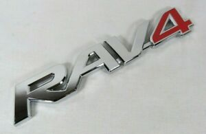 Toyota Rav4 Emblem 96 18 Red Chrome Rear Liftgate Badge Sign Symbol Logo Name