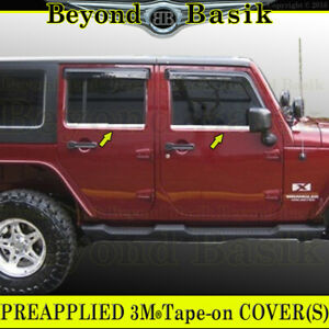 For 2007 2017 Jeep Wrangler 4dr Stainless Steel Window Sill Covers