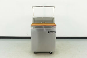 Used Continental Sw27 8 27 1 Door Refrigerated Sandwich Prep Table