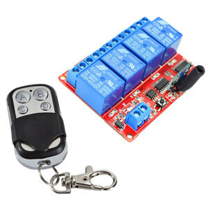 5v 4 Channel Infrared Switch Relay Driving Module Board Remote Controller