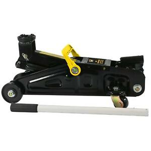 2 Ton 4000 Lb Racing Car Auto Suv Floor Jack Low Profile Rapid Pump Lift Black
