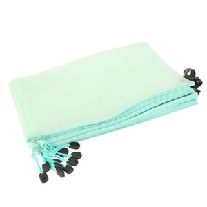 12pc A4 Zippy Bags Zip File Tidy Storage Document Wallet Sleeve Holder Green