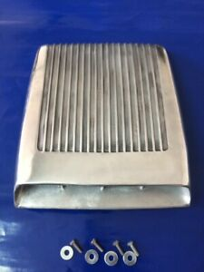 Fits 60 S Ford Mustang Gt 350 Falcon Hood Scoop Functional Finned Cast Aluminum