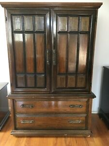 Large Brown Solid Wood Armoire Dresser Local Pick Up Only Orange Ct