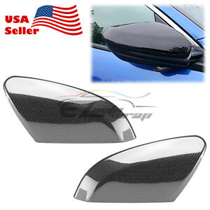 Carbon Fiber Style Side Mirror Cover Case Cap For Honda Civic 2016 2019