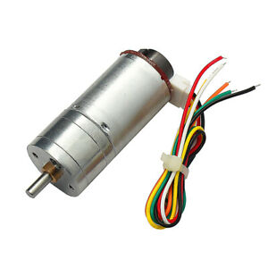 Dc12v 250rmp Reducer Gear Motor With Magnetic Coded Disc Encoder Tachomotor