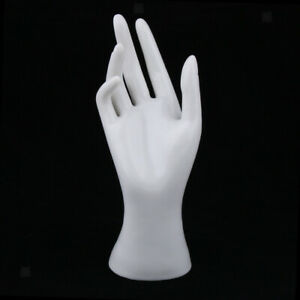 Female Mannequin Hand Jewelry Bracelet Ring Watch Display Holder Rack White