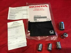 New Genuine Honda Wheel Lock Set 08w42 Sna 100 Exposed Lugs Acoord Civic Cr V