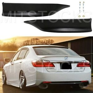 Fit For 2013 2015 Accord Sedan 4d Hfp Style Rear Bumper Lip Splitter Spoiler Pu