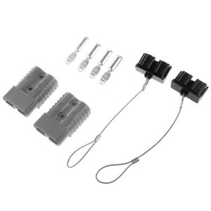 Grey 175a 1awg Battery Quick Connect Kit Winch Connector Forklift Trailer