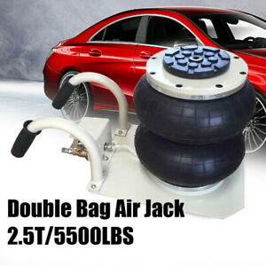 2 5t 5500lbs Double Bag Air Jack Pneumatic Jack 5 3 11 8 Vehicle Jack Stand Us