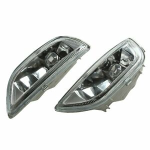 Fog Driving Lights Bumper Lamp h3 Bulbs For 2001 2002 Toyota Corolla Clear Glass