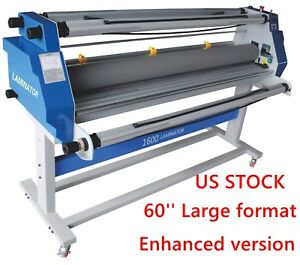 Usa 60 Full auto Take Up Low Temp Large Format Hot Cold Roll Laminator Machine
