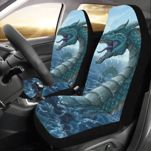 New Personalized Custom Dragon Protector Cushions Car Seat Covers Set Of 2
