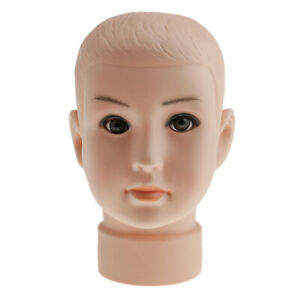 12 Children Mannequin Child Manikin Head Hair Wig Hats Stand Display Holder