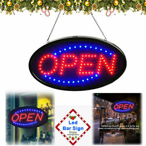 Animated Motion Running Led Business Open Sign on off Switch Bright Light New