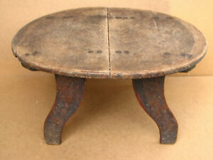 Antique Wooden Wood Three Legged Repast Dinning Table 19th Authentic Ottoman Era