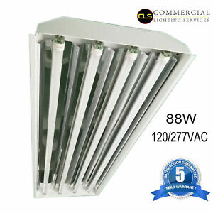 T8 LED High Bay Warehouse Shop Commercial Light 4 Lamp Fixture USA MADE Bright $2,920.00