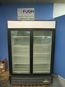 True Gdm 49 Glass Double 2 Door Cooler Refrigerator Merchandiser