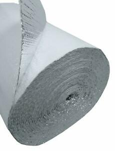 White Faced Double Bubble Reflective Foil Thermal Insulation 24 x25 50sqft