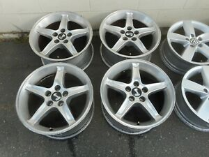 17 X 9 Polished Mustang Cobra R Replicas Alloy Wheels Rims 94 04