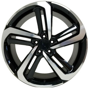 4 New 20 Wheels Black Rims 5x114 3 Et 55 Honda Accord Suv Civic Crv