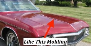 Nos Buick 1970 Riviera Center Of The Hood Molding 6