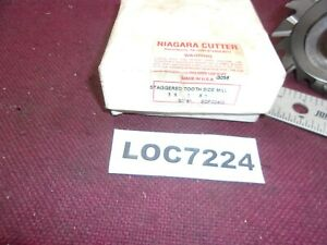 Niagra Side Mill Cutter 3 X 1 Staggered Tooth Cutter Hss Loc7224