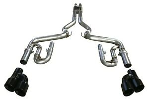 Ford Mustang Gt 5 0l Quad Black Tip Cat Back Exhaust Mach Thunder 18 19
