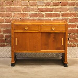 Danish Art Deco Nightstand Bed Side Table Cabinet 1930s