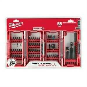Milwaukee 48 32 4028 Shockwave Impact Duty Driver Bit Set 55 piece