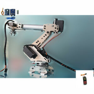 6 Axis Robotic Mechanical Arm Gripper Kit With Mg 996r Servo For Raspberry