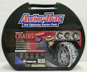 Autotrac 0232110 Tire Snow Chains Self Tightening Light Truck Suv Tires Peerless