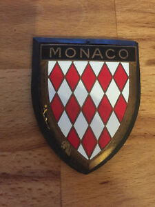 Monaco Enamel Emblem Car Badge Plaque Vw Bug Bus Samba Bmw Porsche Mercedes