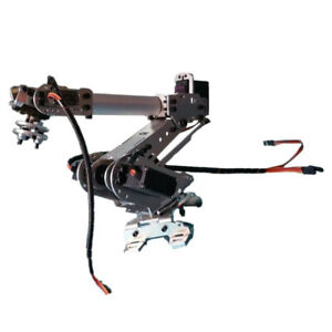 3 Axis Metal Assembled Robotic Mechanical Arm Gripper W Servo For Arduino