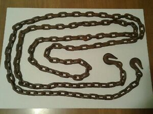 Vtg 5 16 12 5 Ft Tow Chain With Hooks
