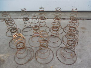 Antique Rusty Tornado Bed Springs Lot Of 12 Primitive Art Steam Punk 8 1 4