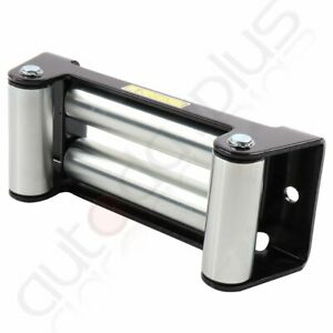 10 Winch Roller Fairlead Super Heavy Duty 4 Way Roller Cable Guide Universal